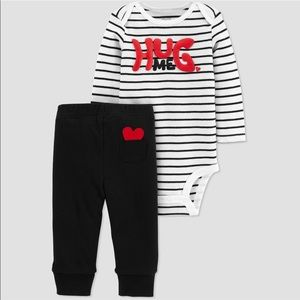 NWT Hug Me 2pc bodysuit set  by Carters